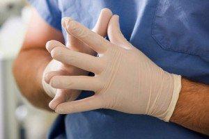 смотровые нитриловые перчаток