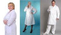 медицинские халаты больших размеров
