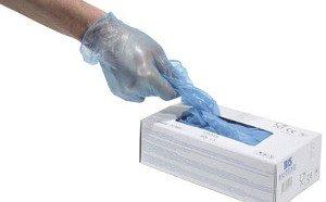 виниловые медицинские перчатки