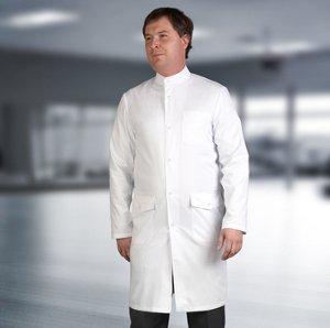 мужской медицинский халат воротник стойка