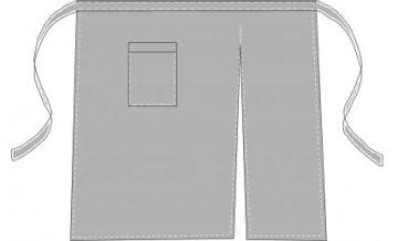 Примерная выкройка длинного фартука для официанта