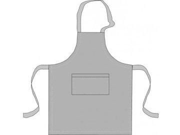Примерная выкройка фартука с нагрудником для официанта
