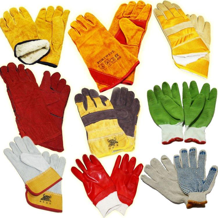 Разные виды рабочих перчаток, предназначенные для работы зимой