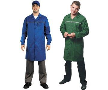 В каких сферах деятельности используют мужские рабочие халаты?