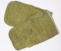 Внешний вид и разновидности рабочих брезентовых рукавиц