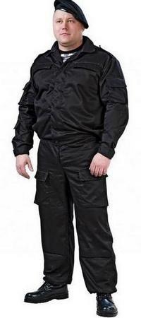 Разновидности комплекта черной спецодежды для спецназа