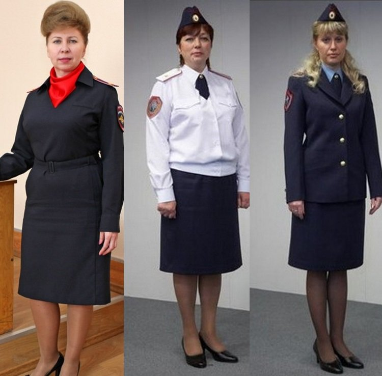 Варианты женских моделей униформы