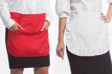 Фартуки для официантов и способы их выкройки и пошива