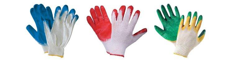 Фото прорезиненных перчаток для рабочих