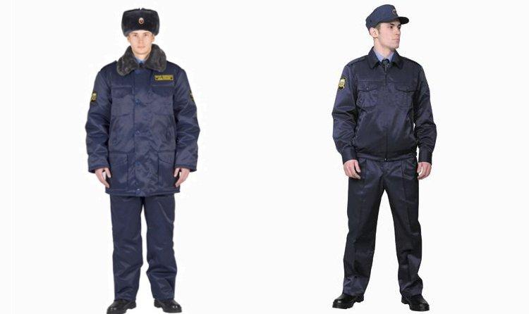 Зимняя и летняя форма для работников-мужчин ФГУП Охрана МВД