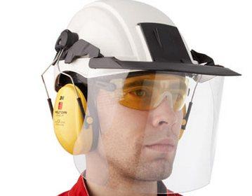 Область применеия каски с защитным стеклом