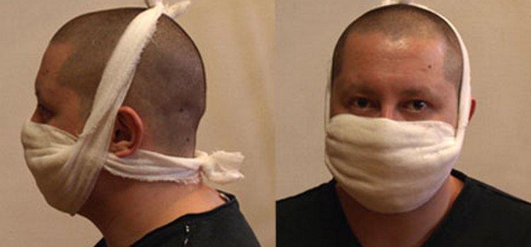 Образец повязки для защиты органов дыхания